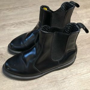 Dr. Martens Flora Black booties